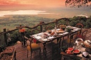 Dining on the crater rim at Ngoro Ngoro Crater Lodge, Tanzania