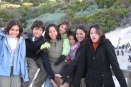 With penguins at Boulders Beach in Simonstown, Cape Town