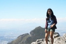 Reaching the summit of Table Mountain, Cape Town