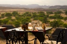 Table with a view at Doro Nawas Camp, Namibia