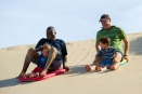 Surfing a dune along Rocktail Bay, South Africa