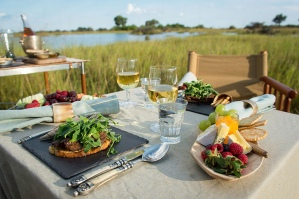 Brunch at Vumbura Plains, Botswana