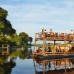The Queen Sylvia cruises on the Linyanti at Kings Pool, Botswana