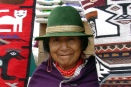 Ecuadorian Indian weaver at Otovalo Market